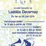 Exposition Laëtitia Devernay à la librairie