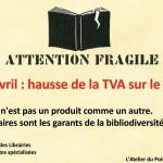 Hausse de la TVA sur le livre